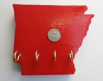 State Shaped State Quarter Key Holder