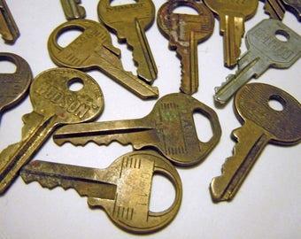38 Vintage Metal Keys for Locks and Boxes