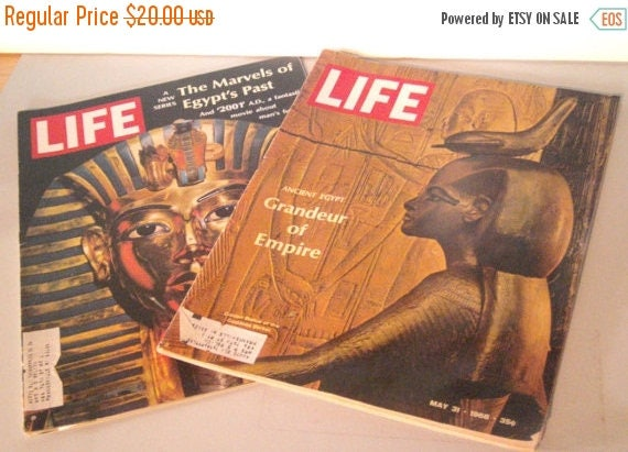 Blow Out Sale Vintage LIFE magazines -1968 - Ancient Egypt - Egyptian Stories - King Tut - Pharaohs - Egyptian Exploration - Tombs