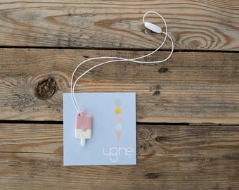 Girls Dessert Pendant | Ceramic Pendant | Colorful Summer Necklace | Teenage Girl Gift | Handmade Popsicle Jewelry | Ice Cream Necklace