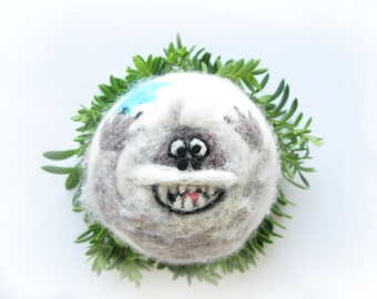 Abominable Snowman,Bumble,Christmas Ornament,Felted decoration,Yeti,