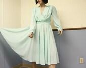 Vintage 1950's Dress Size 13/14 w Circle Skirt