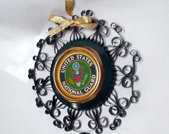 US National Guard Recycled Aluminum Can Decoration