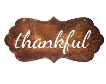 Bubble Sign - thankful