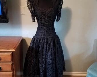 Nuance Black Lace Party Dress Size 9