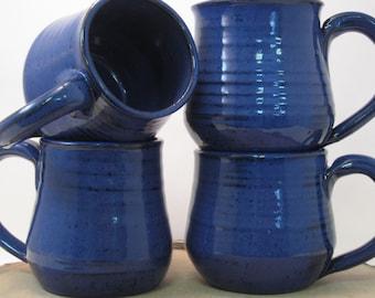 Handmade Ceramic Mug - Cobalt Indigo Blue