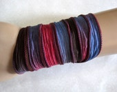 Brown Blue Red  Ribbon Wrap - 1.5x42 inches