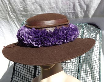 Dash of Fun Ruffled Hat Band - Violet