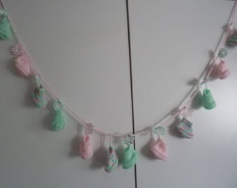 Baby Garland, Knitted Garland, Nursery Décor, Baby Shower Décor, Gift to Parents, Gift to Friends, Baby Room Décor, Knitted Ornaments.