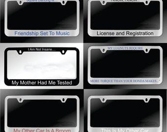 Custom Engraved License Frames