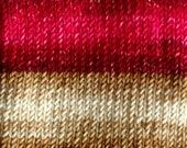 Cranberry Muffins - GRADIENT Self Striping - Hand Dyed Targhee and Nylon Sock Yarn - Essence