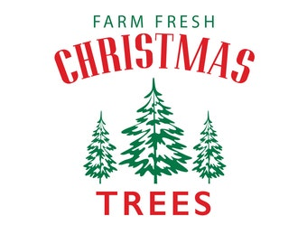Farm fresh Christmas trees DIY decal for wood DB419