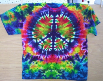 Childrens-Tie Dye Peace Sign Choose Size