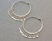 Modern Gypsy Hoop Earrings in Sterling Silver or Gold Filled