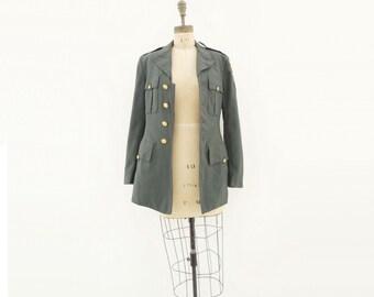 70s Military Jacket Vintage Army Jacket Olive Wool Jacket 2nd Cavalry Uniform 60s 70s Army Jacket Tailored Wool Jacket US Army Jacket s m