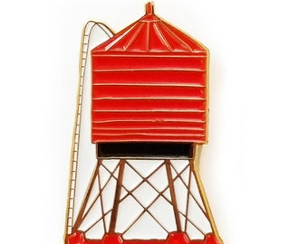 Water Tower Enamel Pin