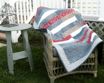 Blue Jean Quilt custom made Throw Size