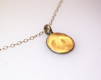 Organic Circle 14K Gold or Sterling Silver