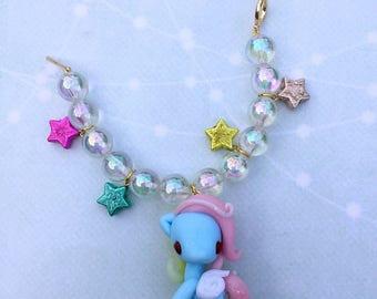 Baby pegasus bag charms - Rainbow cream