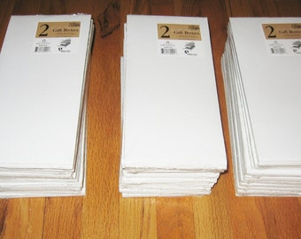 """Lot of 60 NEW Tie or Slipper White Gift Boxes Retail 11.5 x 5.5 x 1.5"""" Socks Hats"""