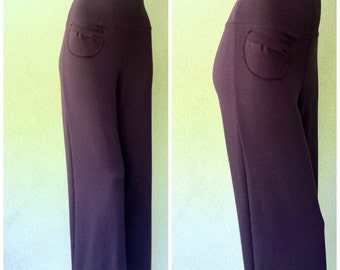 Extra wide-leg pants, organic cotton french terry