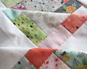 "Fresh Cut by Basic Grey -Unfinished baby sized quilt top - Moda - 38"" x 38"""