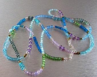 25OFF Mixed Gemstone Long Necklace, Versatile Necklace/Bracelet