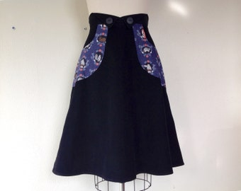 Rachel corduroy high waisted skirt