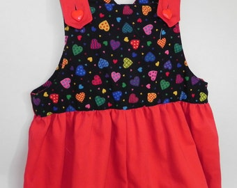 Toddler's red overalls, size 4T