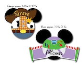 Disney Inspired Toy Story Woody and Buzz Mouse Head Magnets for Disney Cruise