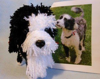 Custom Crochet Dog Made to Look Like Owner's Dog, Portuguese Water Dog, Canine, Look Alike, Stuffed Dog, Custom Crochet Dog, Pet Memorial