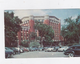 Vintage 1955 post card Entrance to the Henry Ford hospital Detroit Michigan