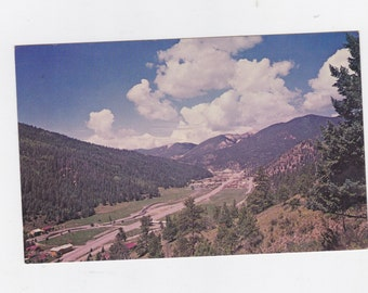 Vintage 1964 post card Red river New Mexico