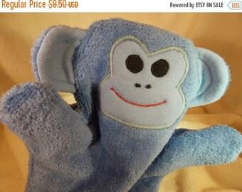 ON SALE Childrens' Monkey Bath Mitt-Children's Monkey Bath-Monkey Mitt-Minion Puppet Mitt-Monkey Puppet Bath Mitt-Monkey Appliqued Mitt