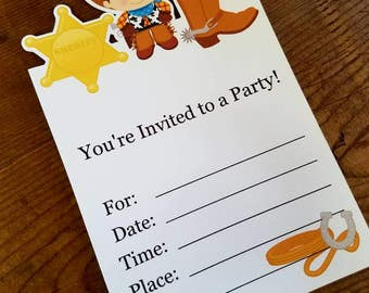 Cowboy Party - Set of 8 Little Cowboy Invitations by The Birthday House