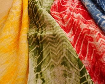 Cotton Hand Dyed Fabric Bundle, Cotton Quilt Fabric Bundle, Fabric Destash, Cotton Fabric Grab Bag, Shibori Fabric, Batik Fabric Bundle