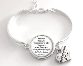 Mother of the Bride Bracelet   Keepsake Gift   Mother of the Bride Gift   Style 643