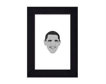 4 x 6 Framed Barack Hussein Obama / President of the United States Portrait