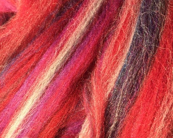 New Mohave multi-colored Merino combed Top for spinning- 8 ounces