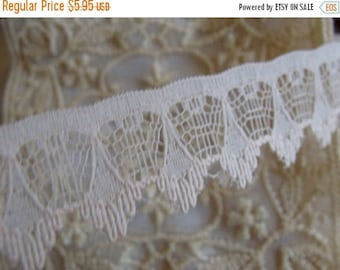 ONSALE Scrumptious Pale Pink Victorian Netted English Lace Yardage