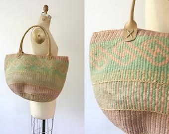 vintage woven tote / vintage market bag / Ojai Canyon bag
