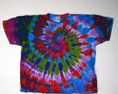 Calming Flow Spiral Tie Dye T-Shirt (Fruit of the Loom Heavy Cotton Size 4XL) (One of a Kind)