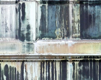 Large Abstract Art, Urban Decay, Abstract Print, Abstract Photography Black Teal Rose Fine Art Print, Industrial Art, Large Wall Art