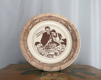 Norman Rockwell Pie Plate Vintage 1983