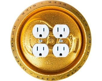 Beer Can Double Duplex Outlet Plate Cover