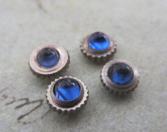 Vintage Sapphire  Watch parts crowns - Steampunk - Scrapbooking L55