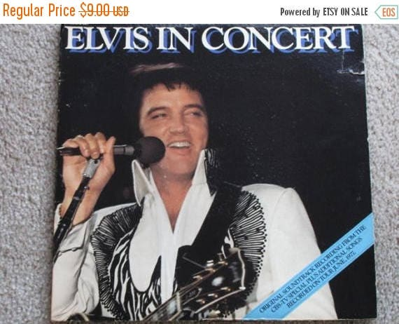 SPRING CLEANING SALE 1977 Elvis Presley vinyl Lp 2 record set Elvis In Concert Rca  alp2-2587 From Cbs- tv Special w original liners