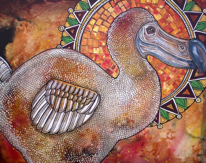 Dodo Bird Icon Art Print by Lynnette Shelley