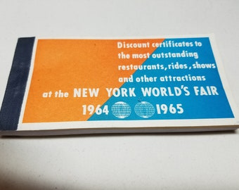 New York Worlds Fair 1964 Discount Certificates Book of Coupons