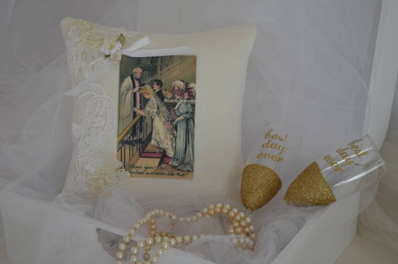 "Wedding Ring Bearer Pillow ""Dream"""